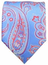 Blue and Red Paisley Men's Tie