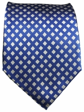 Blue and White Paul Malone Silk Tie (321)