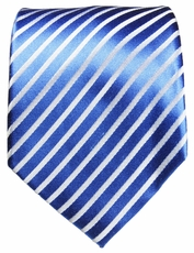 Blue and White Silk Necktie by Paul Malone (923)