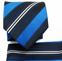 Blue, Black a. White Necktie Set (Q506-P)