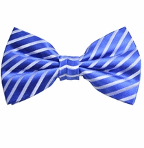 Blue Bow Tie and Pocket Square Set by Paul Malone (BT923H)