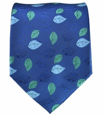 Blue Floral Men's Necktie