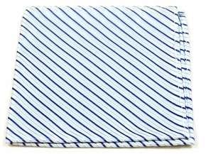 Blue Mens Silk Pocket Square (H429)