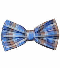 Blue Patterned Bow Tie Set (BT438-M)