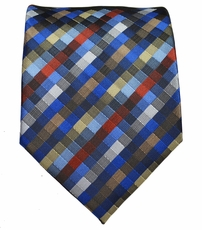Blue Patterned Men's Necktie