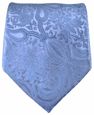 Blue Patterned Paul Malone Silk Necktie (818)