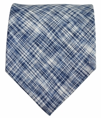 Blue Paul Malone Men's Tie . Cotton/Linen Blend