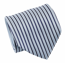 Blue Paul Malone Silk Necktie (429)