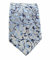 Blue Slim Tie by Paul Malone . 100% Silk