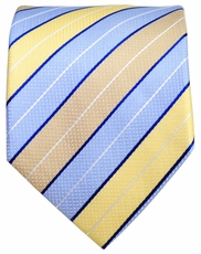 Blue, Yellow and Tan Men's Necktie