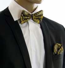 Bow Tie and Pocket Square by Paul Malone (BT550H)