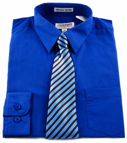 Joseph Abboud Boys Blue Check Dress Shirt & Tie Set REG $ $ Dress your young gentleman to look his best in this fine Joseph Abboud dress shirt and tie set.