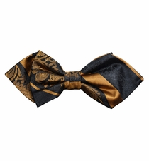 Bronze and Black Silk Bow Tie by Paul Malone Red Line