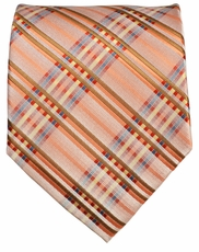 Bronze and Brown Men's Necktie