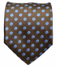 Brown and Blue Dotted Men's Tie