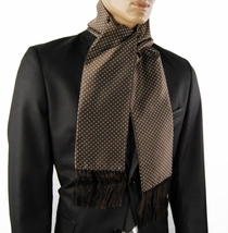 Brown and White Polka Dots Men's Scarf (SC2009-I)
