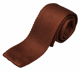 Brown Knit Tie by Paul Malone (KN678)