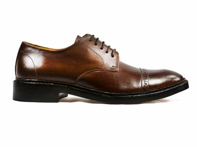 Brown Lace-up Men's Dress Shoes by Paul Malone