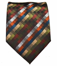 Brown Patterned Men's Necktie