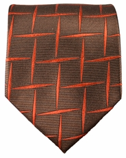 Brown Paul Malone Silk Tie (412)