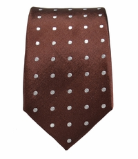 Brown Slim Tie by Paul Malone . 100% Silk