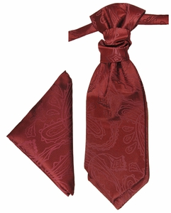 Burgundy Cravat Set by Paul Malone (PLV1H)