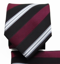 Burgundy, Black a. White Tie Set (Q506-K)