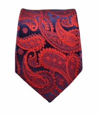 Burgundy Paisley Slim Silk Tie by Paul Malone