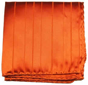 Burnt Orange Mens Silk Pocket Square (H622)