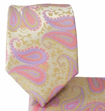 Cashmere Rose and Gold Tie and Pocket Square