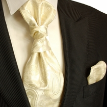 Champagne Cravat and Pocket Square Set