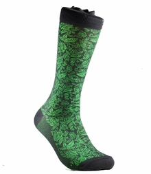 Charcoal and Green Cotton Socks by Paul Malone