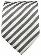 Charcoal & Off White Paul Malone Silk Necktie (112)