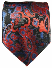 Colorful Paisley Silk Necktie by Paul Malone (885)