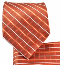 Copper Necktie and Pocket Square Set