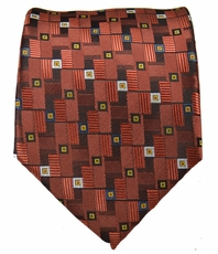 Copper Patterned Men's Necktie
