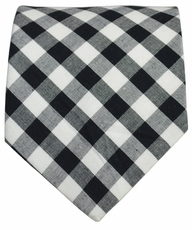 Cotton Tie by Paul Malone . Classic Black and White Plaids