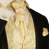 Cream Paul Malone Tuxedo Vest Set (V15)