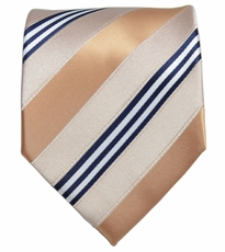 Creme Tan and Navy Necktie