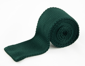 Dark Green Knit Tie by Paul Malone (KN650)
