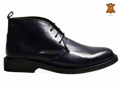 Dark Navy Dress Boots by Paul Malone