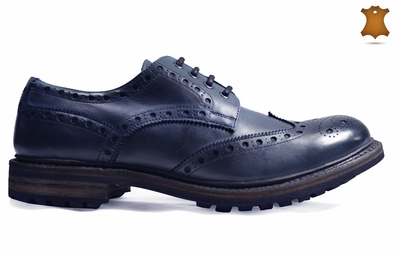 Dark Navy Oxfords by Paul Malone