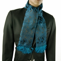 Emerald and Black Men's Scarf (SC276-J)