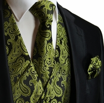 Forest Green Formal Mens Vest Set (Q20-W)