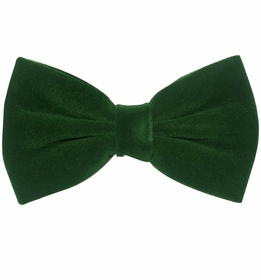 Forest Green Velvet Bow Tie and Pocket Square