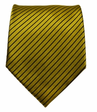 Gold a. Brown Silk Tie by Paul Malone (398)