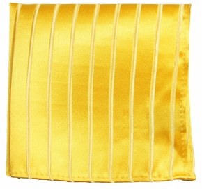 Gold Hand Made Silk Pocket Square (H681)