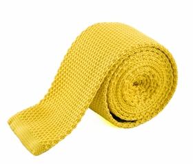 Gold Knit Tie by Paul Malone (KN654)
