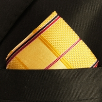 Gold Mens Silk Pocket Square (H538)