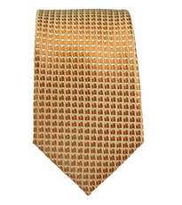 Gold Paul Malone Slim Tie . 100% Silk